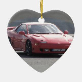 Mitsubishi GTO 3L Turbo gemelo Adorno Navideño De Cerámica En Forma De Corazón