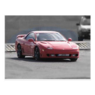 Mitsubishi GTO 3L Turbo gemelo Tarjeta Postal
