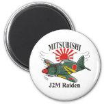 mitsubishi J2M Raiden Iman Para Frigorífico