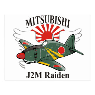 mitsubishi J2M Raiden Postcard