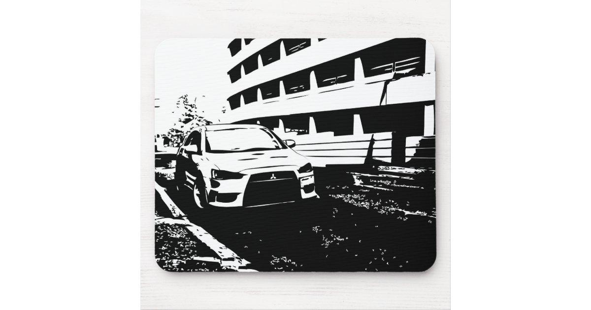 Mitsubishi Lancer Evolution x - I Love my EVO Mouse Pad | Zazzle