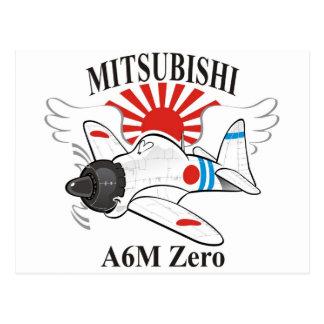 mitsubishi zero postcard