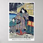 Mitsuji cerca de un carro por Utagawa, Kunisada Posters