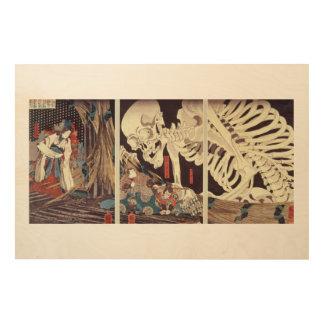 Mitsukini Defying the Skeleton Spectre, c.1845 2 Wood Canvas