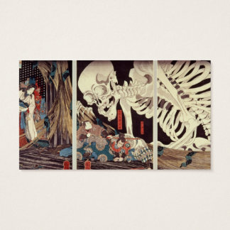 Mitsukini Defying the Skeleton Spectre, c.1845 Business Card