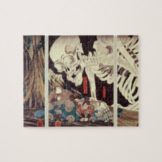Mitsukini Defying the Skeleton Spectre, c.1845 Jigsaw Puzzle