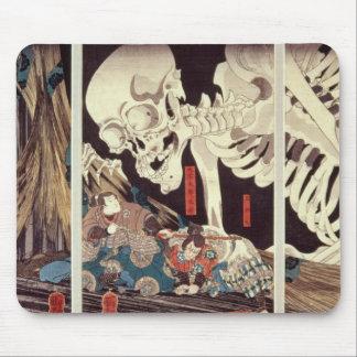 Mitsukini Defying the Skeleton Spectre, c.1845 Mousepads