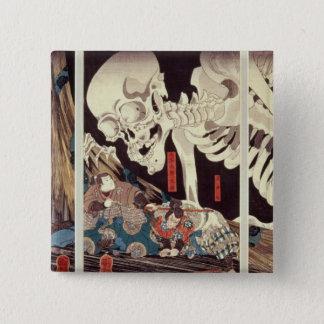 Mitsukini Defying the Skeleton Spectre, c.1845 Pinback Button