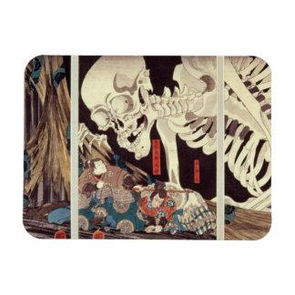 Mitsukini Defying the Skeleton Spectre, c.1845 Rectangle Magnets
