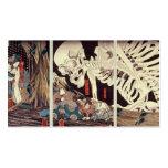 Mitsukini que desafía el espectro esquelético, c.1 tarjeta de visita