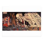 Mitsukuni Defying the Skeleton Specter Postcard