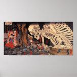 Mitsukuni que desafía el espectro esquelético impresiones