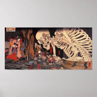 Mitsukuni que desafía el espectro esquelético póster