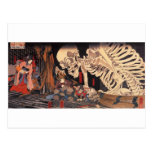 Mitsukuni que desafía el espectro esquelético postales