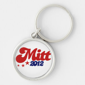 Mitt 2012 Silver-Colored round keychain