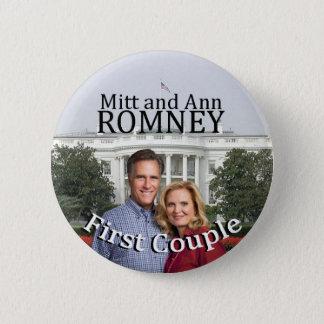Mitt and Ann Romney First Couple Pinback Button