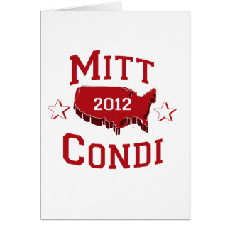 MITT AND CONDI DELEGATES.png Greeting Cards