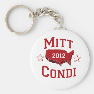 MITT AND CONDI DELEGATES png Keychains