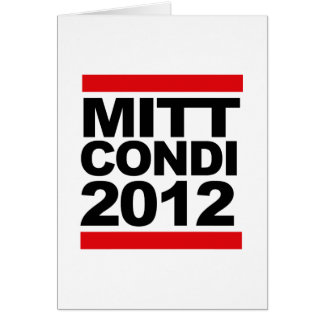 MITT AND CONDI HIP.png Greeting Card