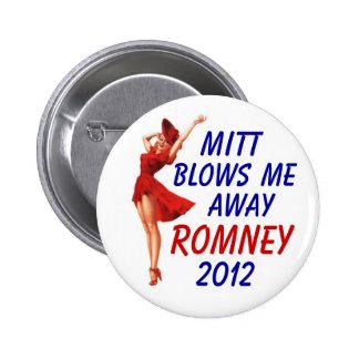 Mitt blows me away 2012 2 inch round button