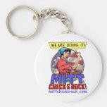 Mitt Chicks Rock! Keychain