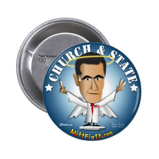 Mitt Fix It - Church and State Pinback Button
