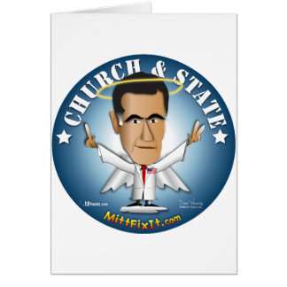 Mitt Fix It - Church and State Greeting Cards