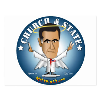Mitt Fix It - Church and State Post Card