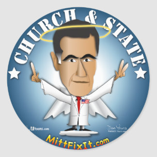 Mitt Fix It - Church and State Round Stickers