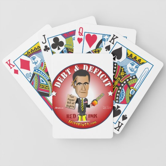 Mitt Fix It - Debt & Deficit Bicycle Playing Cards