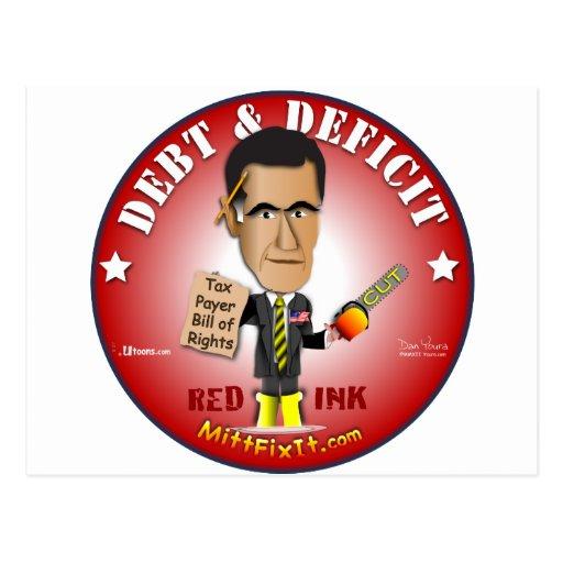 Mitt Fix It - Debt & Deficit Post Cards