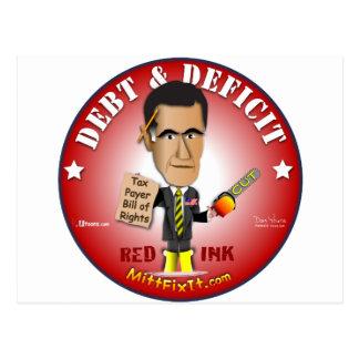 Mitt Fix It - Debt & Deficit Postcard