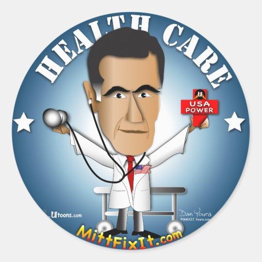 Mitt Fix It - Health Care Classic Round Sticker