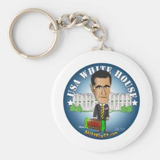 Mitt Fix It - White House Basic Round Button Keychain