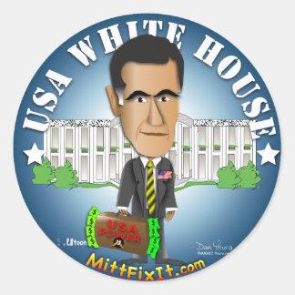 Mitt Fix It - White House Classic Round Sticker