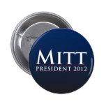 Mitt for President 2012 2 Inch Round Button