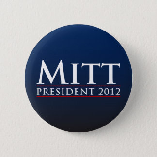 Mitt for President 2012 Button