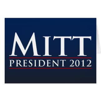Mitt for President 2012 Card