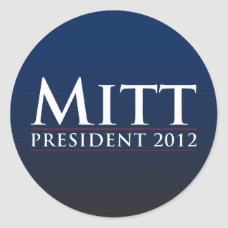 Mitt for President 2012 Classic Round Sticker