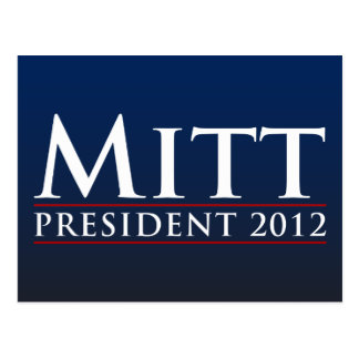 Mitt for President 2012 Postcard