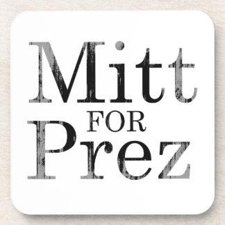 MITT FOR PREZ BEVERAGE COASTER