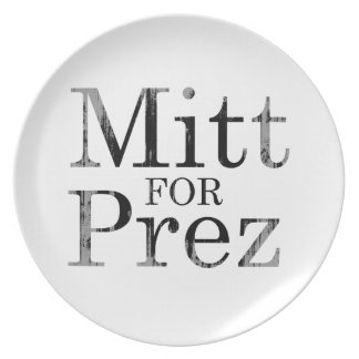 MITT FOR PREZ PARTY PLATE