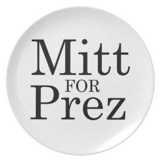 MITT FOR PREZ PLATE