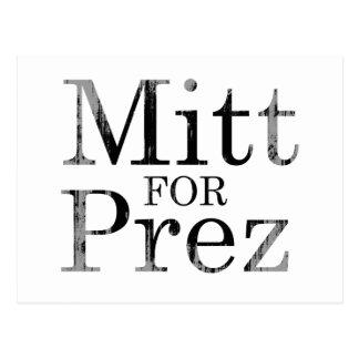 MITT FOR PREZ POST CARD