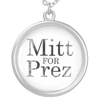 MITT FOR PREZ ROUND PENDANT NECKLACE