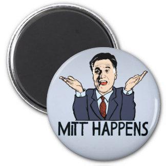 Mitt Happens 2 Inch Round Magnet
