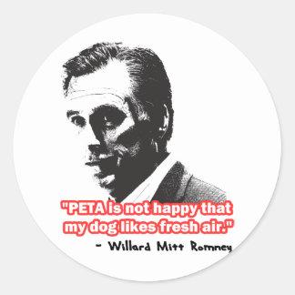 Mitt Happens Classic Round Sticker
