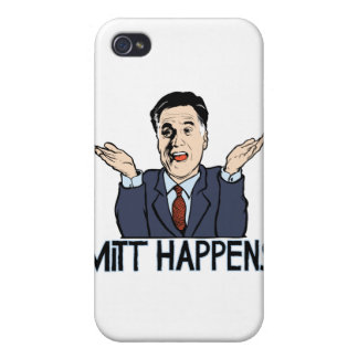 Mitt Happens Cover For iPhone 4