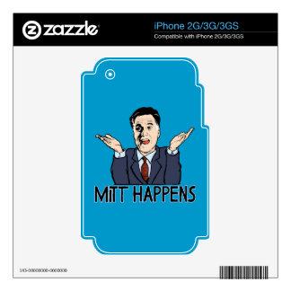 Mitt Happens Decal For iPhone 2G