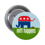 Mitt Happens - Funny Romney Election 2012 2 Inch Round Button